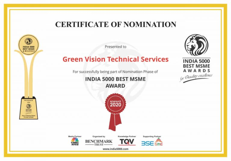 Green Vision Certificate of nomiation